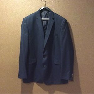 Kenneth Cole size 48L W42 Navy suit coat blazer